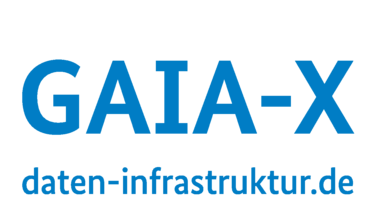 shows the GAIA-X brand tag and website URL daten-infrastruktur.de